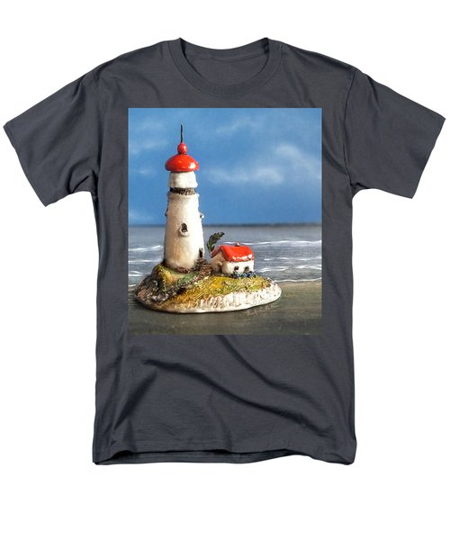 Men's T-Shirt  (Regular Fit) featuring the photograph Miniature Lighthouse by Wendy McKennon
