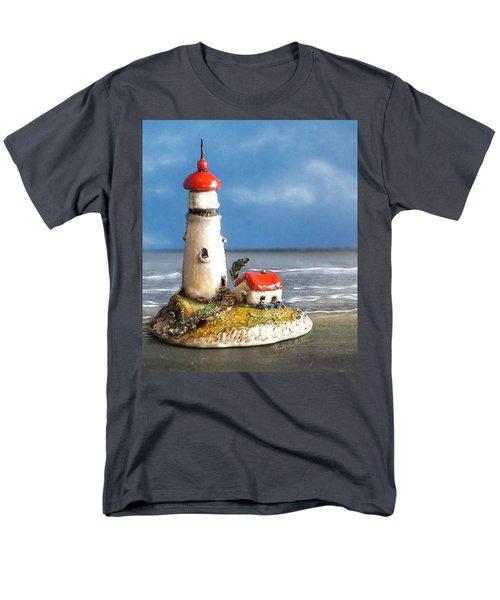 Miniature Lighthouse Men's T-Shirt  (Regular Fit) by Wendy McKennon