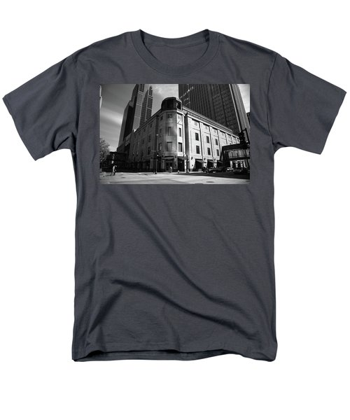Men's T-Shirt  (Regular Fit) featuring the photograph Minneapolis Downtown Bw by Frank Romeo