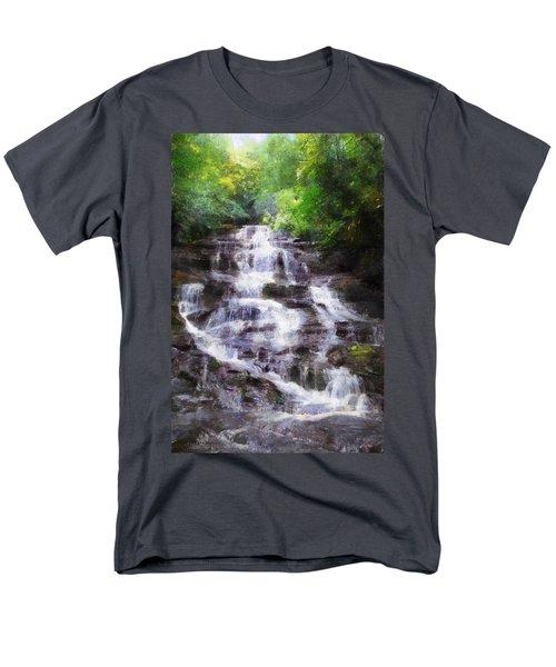 Men's T-Shirt  (Regular Fit) featuring the digital art Minnehaha Falls Summer by Francesa Miller