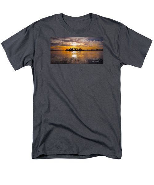 Mission Bay Purple Sunset By Jasna Gopic Men's T-Shirt  (Regular Fit)