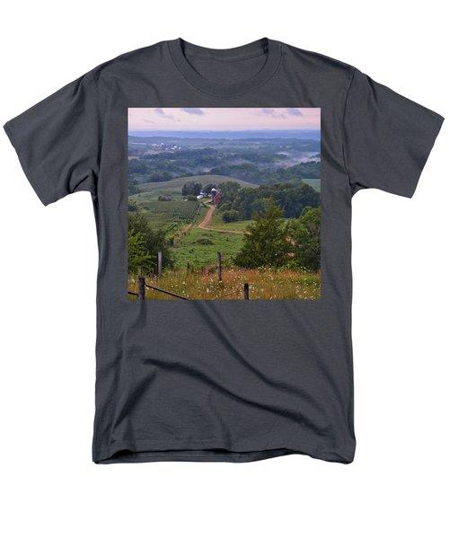 Mississippi River Valley 2 Men's T-Shirt  (Regular Fit) by Bonfire Photography