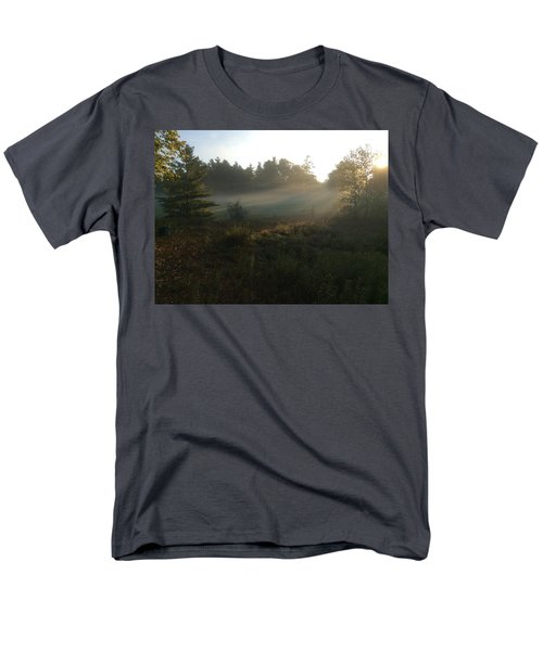Men's T-Shirt  (Regular Fit) featuring the photograph Mist In The Meadow by Pat Purdy