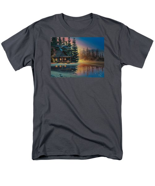 Men's T-Shirt  (Regular Fit) featuring the painting Misty Refection by Al Hogue