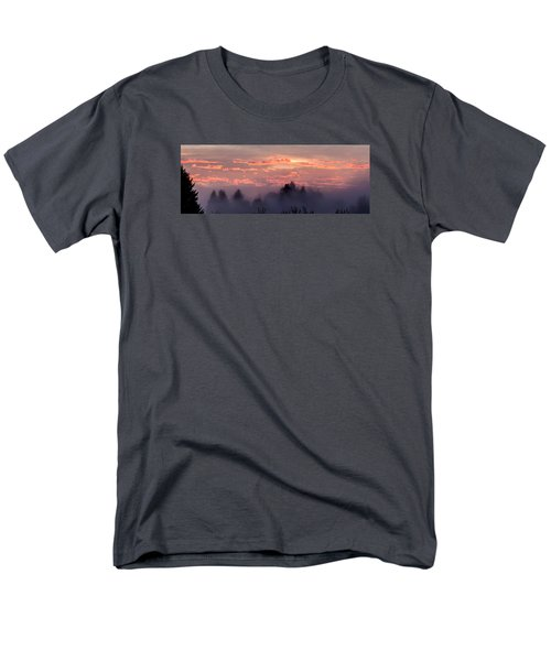 Misty Sunrise Panorama Men's T-Shirt  (Regular Fit) by E Faithe Lester