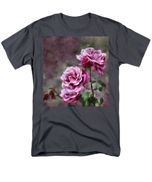 Men's T-Shirt  (Regular Fit) featuring the digital art Moms Roses by Susan Kinney