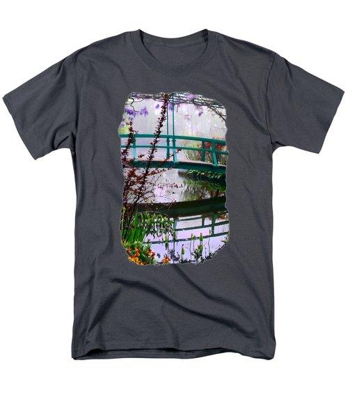 Monet's Bridge Men's T-Shirt  (Regular Fit) by Jim Hill