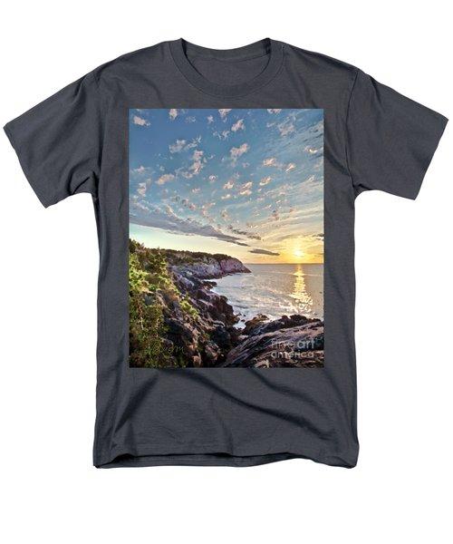 Men's T-Shirt  (Regular Fit) featuring the photograph Monhegan East Shore by Tom Cameron