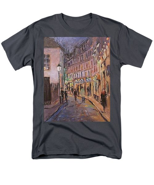 Men's T-Shirt  (Regular Fit) featuring the painting Monmartre by Walter Casaravilla