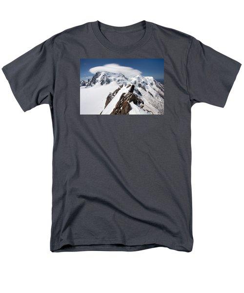 Mont Blanc And Ufo Men's T-Shirt  (Regular Fit)