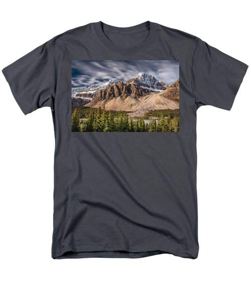 Mont Crowfoot On The Icefield Parkway Men's T-Shirt  (Regular Fit) by Pierre Leclerc Photography