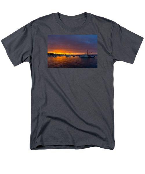 Monterey Marina Sunset Men's T-Shirt  (Regular Fit) by Derek Dean