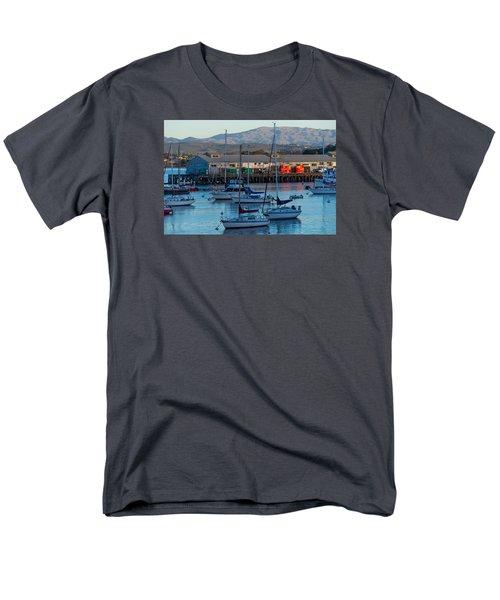 Monterey Wharf At Sunset Men's T-Shirt  (Regular Fit) by Derek Dean