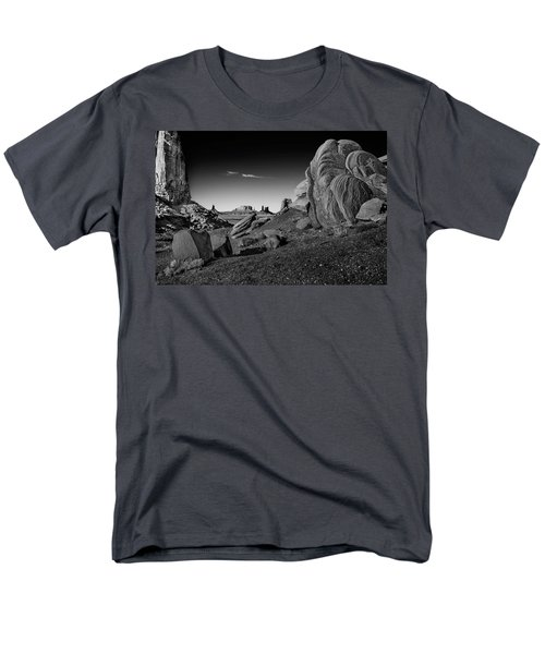 Monument Valley Rock Formations Men's T-Shirt  (Regular Fit) by Phil Cardamone