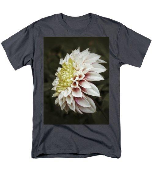 Men's T-Shirt  (Regular Fit) featuring the photograph Moody Dahlia  by Karen Stahlros
