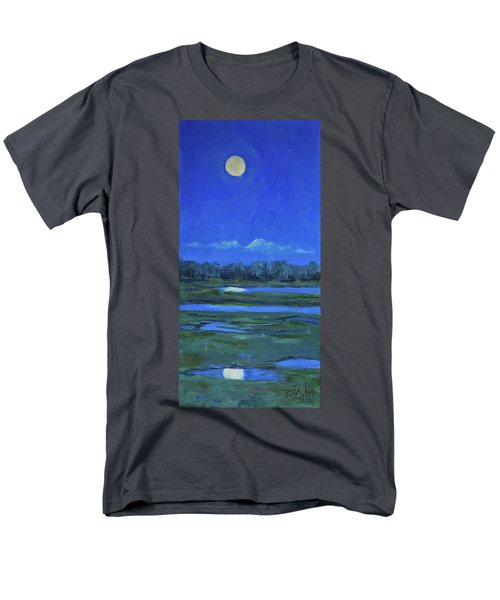 Men's T-Shirt  (Regular Fit) featuring the painting Moon Light And Mud Puddles by Billie Colson