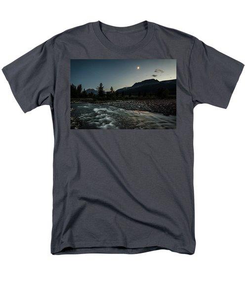 Moon Over Montana Men's T-Shirt  (Regular Fit)
