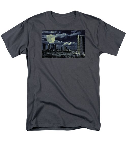 Men's T-Shirt  (Regular Fit) featuring the photograph Moon Over Tampa Two by Ken Frischkorn