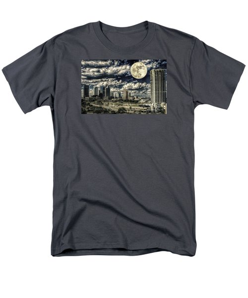 Men's T-Shirt  (Regular Fit) featuring the photograph Moon Over Tampa One by Ken Frischkorn