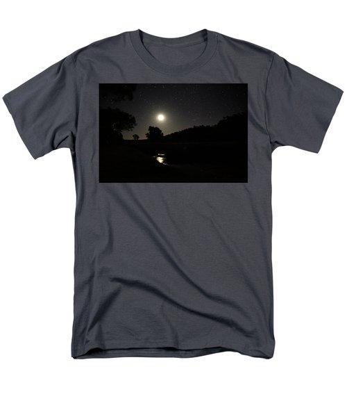 Men's T-Shirt  (Regular Fit) featuring the photograph Moon Set Over Palm Valley 2 by Paul Svensen