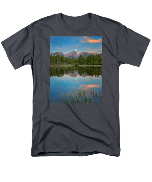 Full Moon Set Over Sprague Lake Men's T-Shirt  (Regular Fit) by John Vose