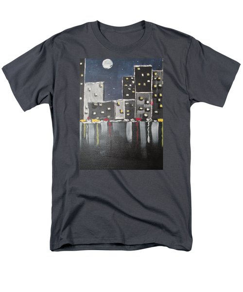 Men's T-Shirt  (Regular Fit) featuring the painting Moonlighters by Sharyn Winters