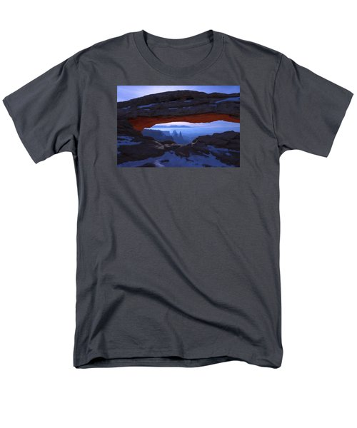 Men's T-Shirt  (Regular Fit) featuring the photograph Moonlit Mesa by Chad Dutson