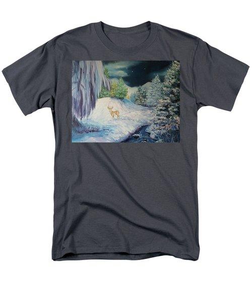 Moonlit Surprise Men's T-Shirt  (Regular Fit)
