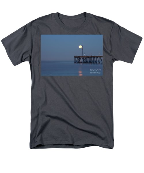Men's T-Shirt  (Regular Fit) featuring the photograph Moonset At The Ventura Pier by John A Rodriguez