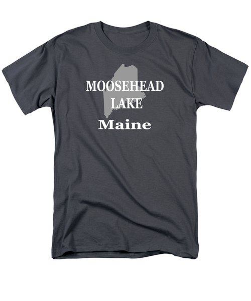 Men's T-Shirt  (Regular Fit) featuring the photograph Moosehead Lake Maine State Pride  by Keith Webber Jr