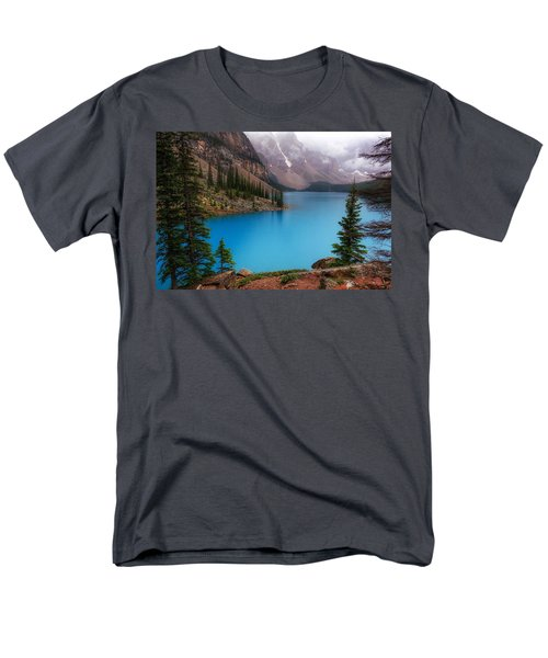 Moraine Lake Men's T-Shirt  (Regular Fit) by Heather Vopni
