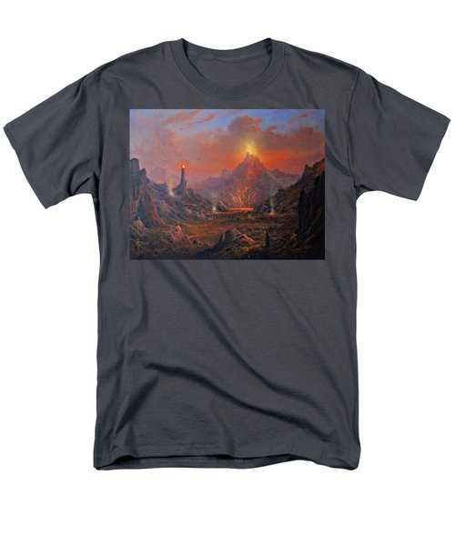 Mordor Land Of Shadow Men's T-Shirt  (Regular Fit) by Joe Gilronan