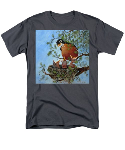 Men's T-Shirt  (Regular Fit) featuring the painting More Food by Roseann Gilmore