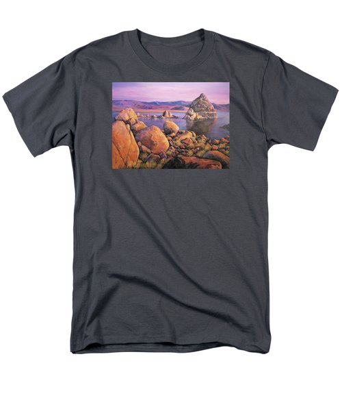 Morning Colors At Lake Pyramid Men's T-Shirt  (Regular Fit) by Donna Tucker