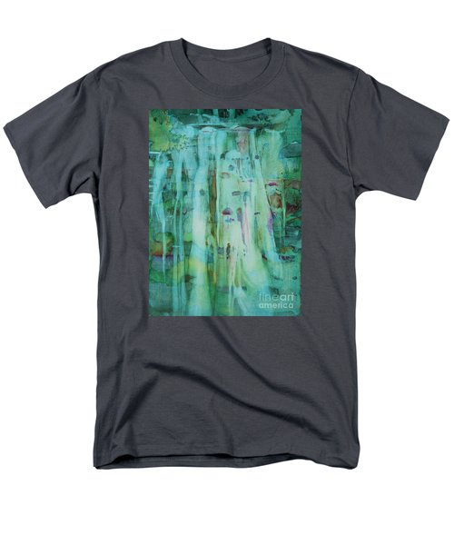 Men's T-Shirt  (Regular Fit) featuring the painting Mossy Falls by Elizabeth Carr