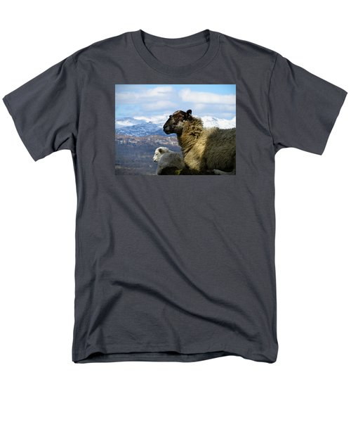 Men's T-Shirt  (Regular Fit) featuring the photograph Mother And Lamb by RKAB Works