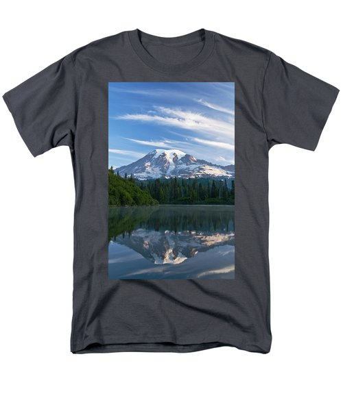 Mount Rainier Reflections Men's T-Shirt  (Regular Fit) by Greg Vaughn - Printscapes