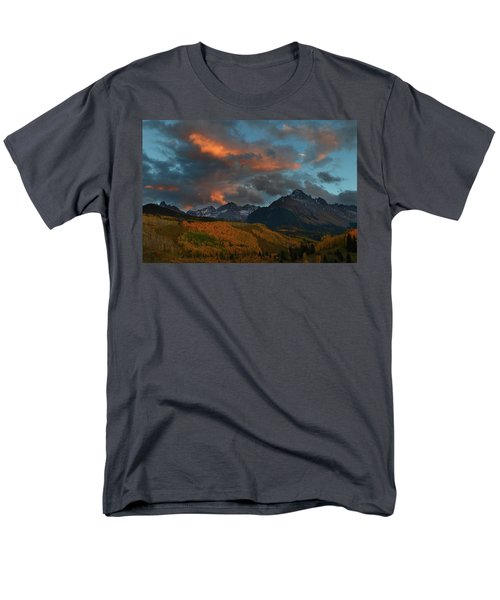 Mount Sneffels Sunset During Autumn In Colorado Men's T-Shirt  (Regular Fit) by Jetson Nguyen