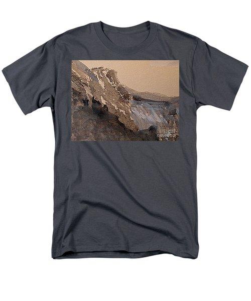 Mountain Cliff Men's T-Shirt  (Regular Fit) by Nancy Kane Chapman
