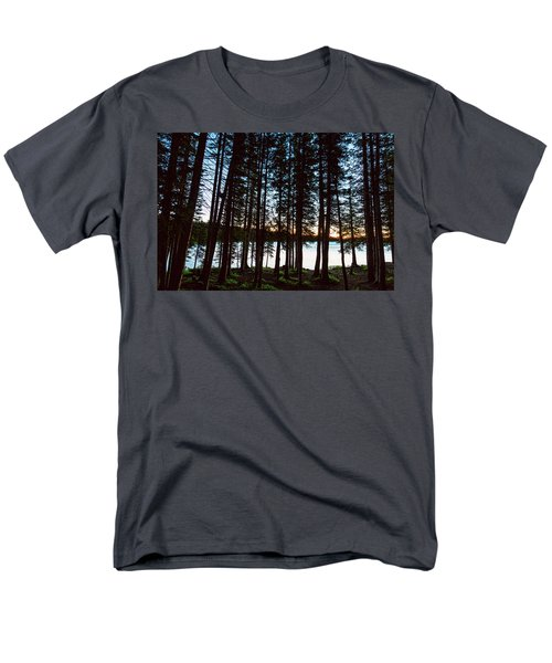 Men's T-Shirt  (Regular Fit) featuring the photograph Mountain Forest Lake by James BO Insogna