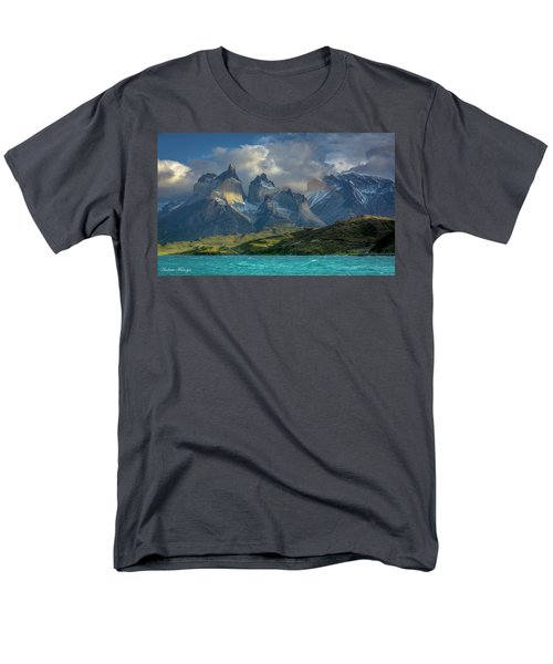 Men's T-Shirt  (Regular Fit) featuring the photograph Mountain Glimmer by Andrew Matwijec