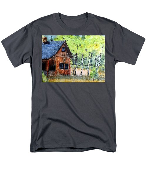 Men's T-Shirt  (Regular Fit) featuring the painting Mountain Home by Tom Riggs