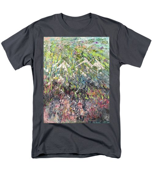 Mountain Of Many Colors Men's T-Shirt  (Regular Fit) by George Riney