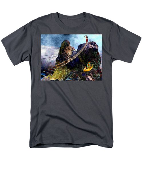 Men's T-Shirt  (Regular Fit) featuring the painting Moving Sideways by Mojo Mendiola