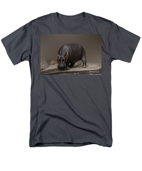 Mr. Hippo Men's T-Shirt  (Regular Fit) by Charuhas Images