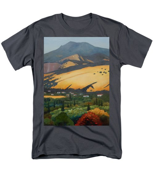 Men's T-Shirt  (Regular Fit) featuring the painting Mt. Diablo Above by Gary Coleman