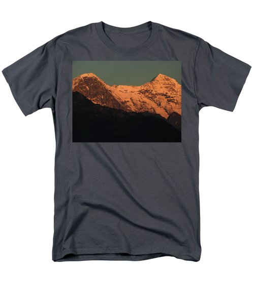 Mt. Eiger And Mt. Moench At Sunset Men's T-Shirt  (Regular Fit) by Ernst Dittmar