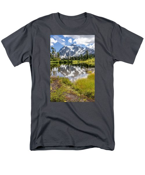 Men's T-Shirt  (Regular Fit) featuring the photograph Mt Shuksan On Picture Lake 2 by Rob Green