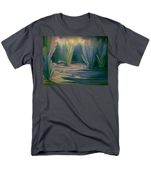 Mural Field Of Feathers Men's T-Shirt  (Regular Fit) by Nancy Griswold