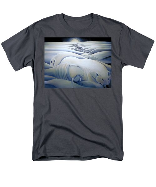 Men's T-Shirt  (Regular Fit) featuring the painting Mural  Winters Embracing Crevice by Nancy Griswold